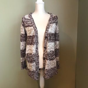 Rue 21 Dark brown and tan knitted sweater